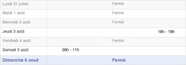 horaires d'ouverture de la Mairie D'Orveau-Bellesauve