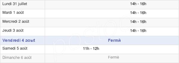 horaires d'ouverture de la Mairie De Brouy