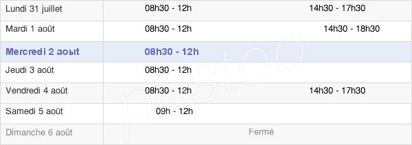horaires d'ouverture de la Mairie De Vauhallan
