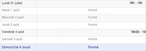 horaires d'ouverture de la Mairie De Saint-Hilaire