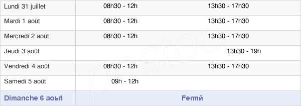 horaires d'ouverture de la Mairie De Viry-Chatillon