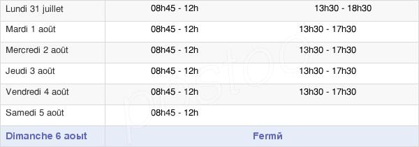 horaires d'ouverture de la Mairie De Crosne