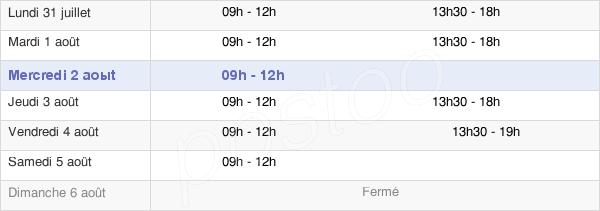 horaires douverture de la Mairie De SainteGenevièveDesBois