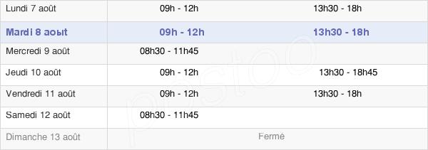 horaires d'ouverture de la Mairie De Morsang-Sur-Orge