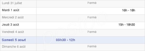 horaires d'ouverture de la Mairie De Quiers-Sur-Bézonde
