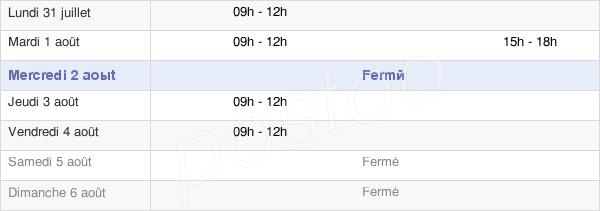 horaires d'ouverture de la Mairie D'Yèvre-La-Ville