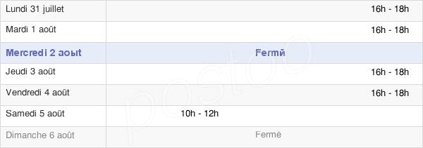 horaires d'ouverture de la Mairie De Avernes