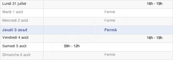 horaires d'ouverture de la Mairie De Villers-En-Arthies
