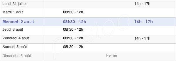 horaires d'ouverture de la Mairie De Luzarches