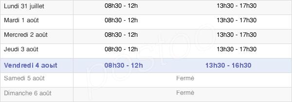 horaires d'ouverture de la Mairie De Mériel