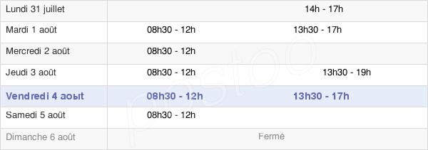 horaires d'ouverture de la Mairie De Bernes-Sur-Oise