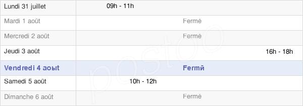 horaires d'ouverture de la Mairie D'Ouvrouer-Les-Champs