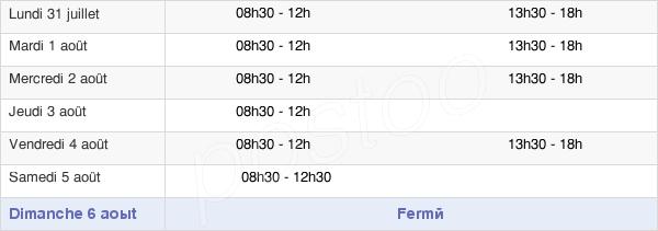 horaires d'ouverture de la Mairie D'Ecouen
