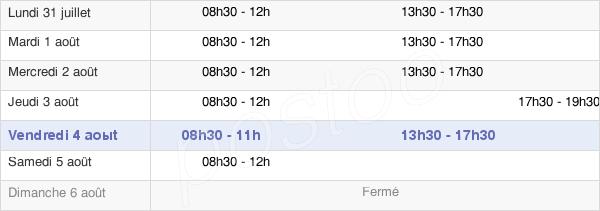 horaires d'ouverture de la Mairie De Fontenay-En-Parisis