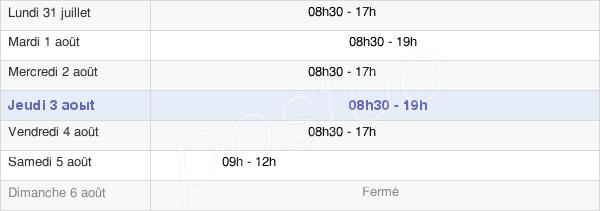 horaires d'ouverture de la Mairie De Saint-Gratien