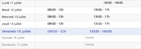 horaires d'ouverture de la Mairie De Groslay