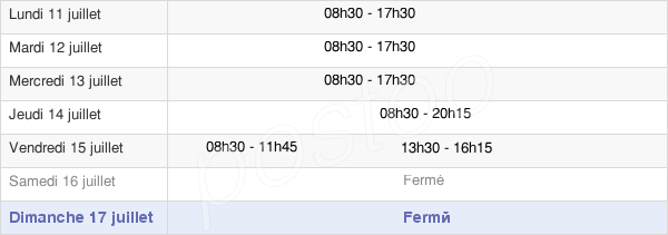 horaires d'ouverture de la Mairie De Herblay