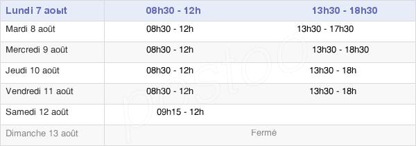 horaires d'ouverture de la Mairie De Cormeilles-En-Vexin