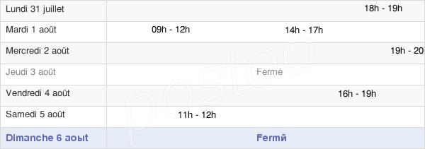horaires d'ouverture de la Mairie De Frouville