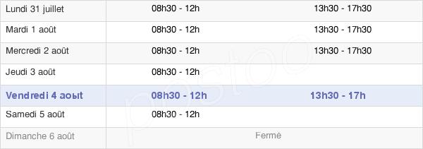 horaires d'ouverture de la Mairie D'Enghien-Les-Bains