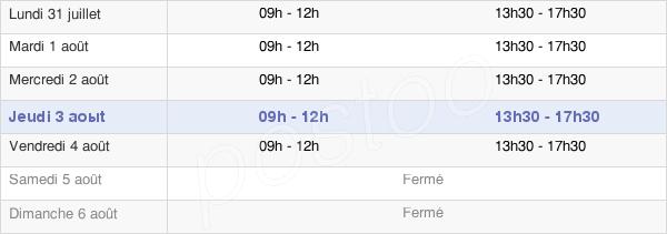 horaires d'ouverture de la Mairie De Vigny