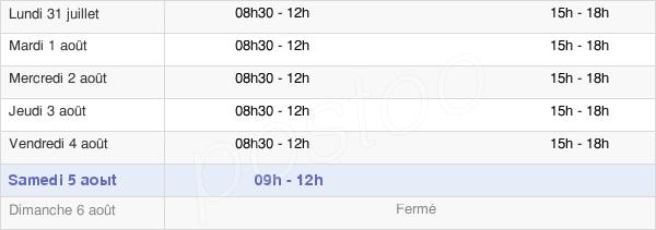 horaires d'ouverture de la Mairie De Vémars
