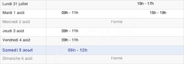 horaires d'ouverture de la Mairie De Valmondois