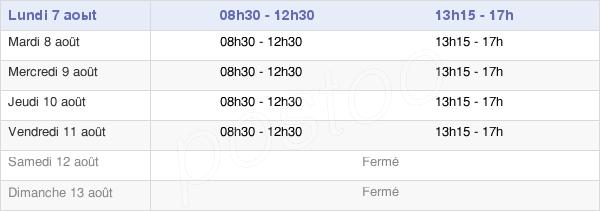 horaires d'ouverture de la Mairie D'Andilly