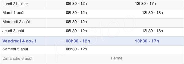 horaires d'ouverture de la Mairie De Bray Et Lû