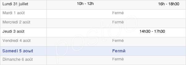 horaires d'ouverture de la Mairie De Berville