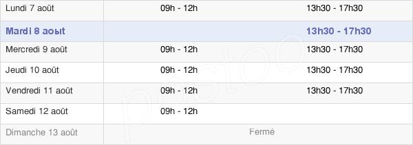 horaires d'ouverture de la Mairie De Gonesse