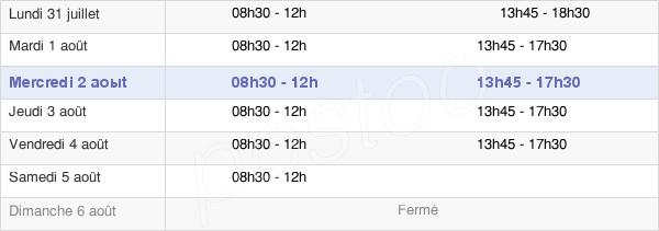 horaires d'ouverture de la Mairie De Montmagny