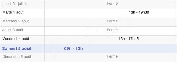 horaires d'ouverture de la Mairie De Seraincourt