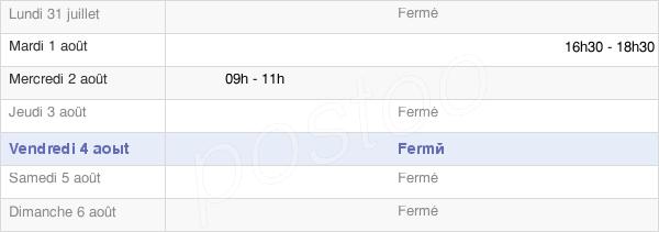 horaires d'ouverture de la Mairie De Grangermont