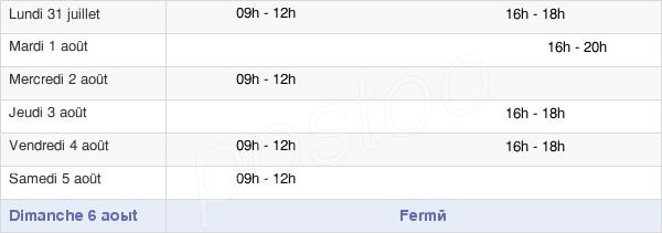 horaires d'ouverture de la Mairie De Maffliers