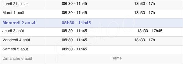 horaires d'ouverture de la Mairie De Saint-Prix