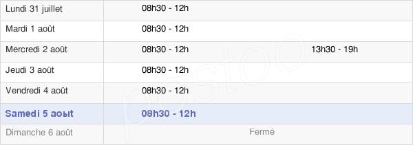 horaires d'ouverture de la Mairie De Belloy-En-France