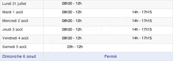 horaires d'ouverture de la Mairie De Cléry-Saint-André