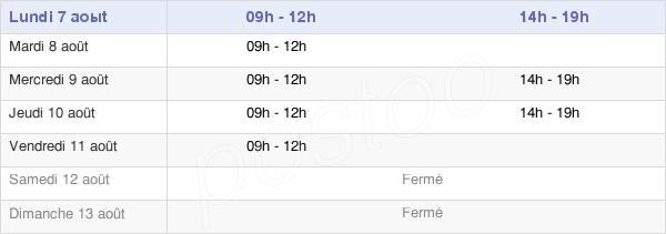 horaires d'ouverture de la Mairie De Villaines-Sous-Bois