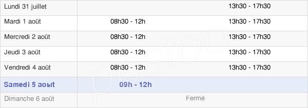 horaires d'ouverture de la Mairie D'Ezanville