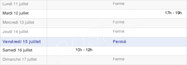 horaires d'ouverture de la Mairie De Santeuil