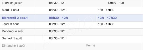horaires d'ouverture de la Mairie De Beauchamp