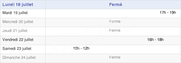 horaires d'ouverture de la Mairie D'Omerville