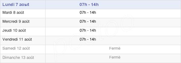 horaires d'ouverture de la Mairie De Papaïchton