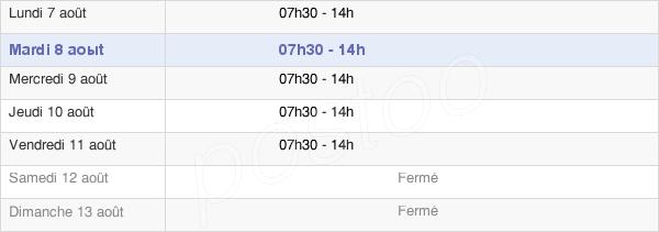 horaires d'ouverture de la Mairie De Cayenne