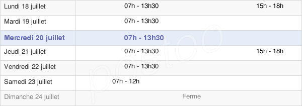 horaires d'ouverture de la Mairie De Sinnamary