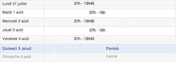 horaires d'ouverture de la Mairie De Remire-Montjoly