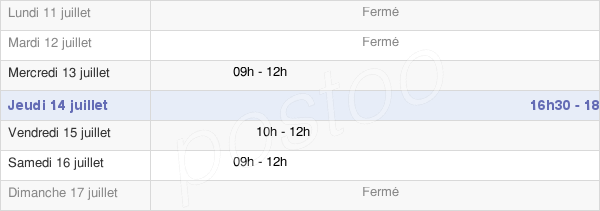 horaires d'ouverture de la Mairie De Saâcy-Sur-Marne