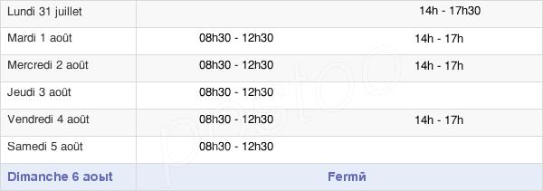horaires d'ouverture de la Mairie De Ferrières-En-Gâtinais