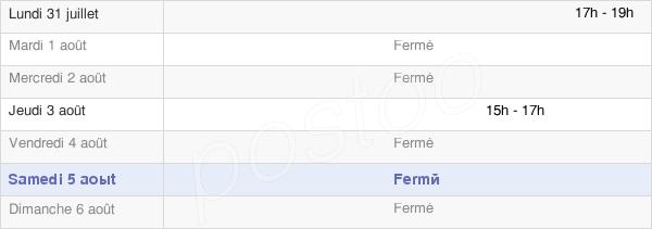 horaires d'ouverture de la Mairie De Sancy-Les-Provins